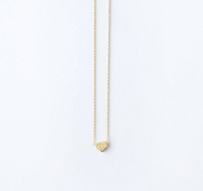 gold necklace heart