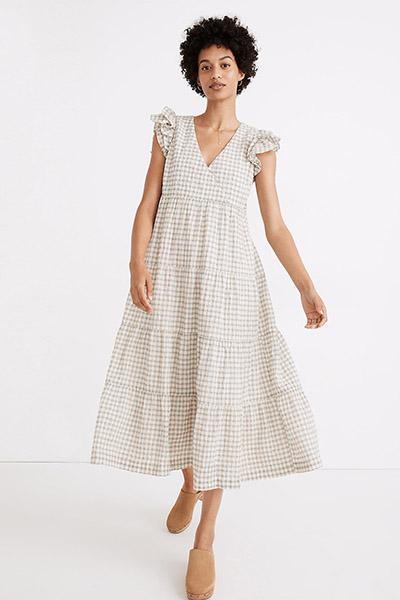 madewell gingham maternity dress