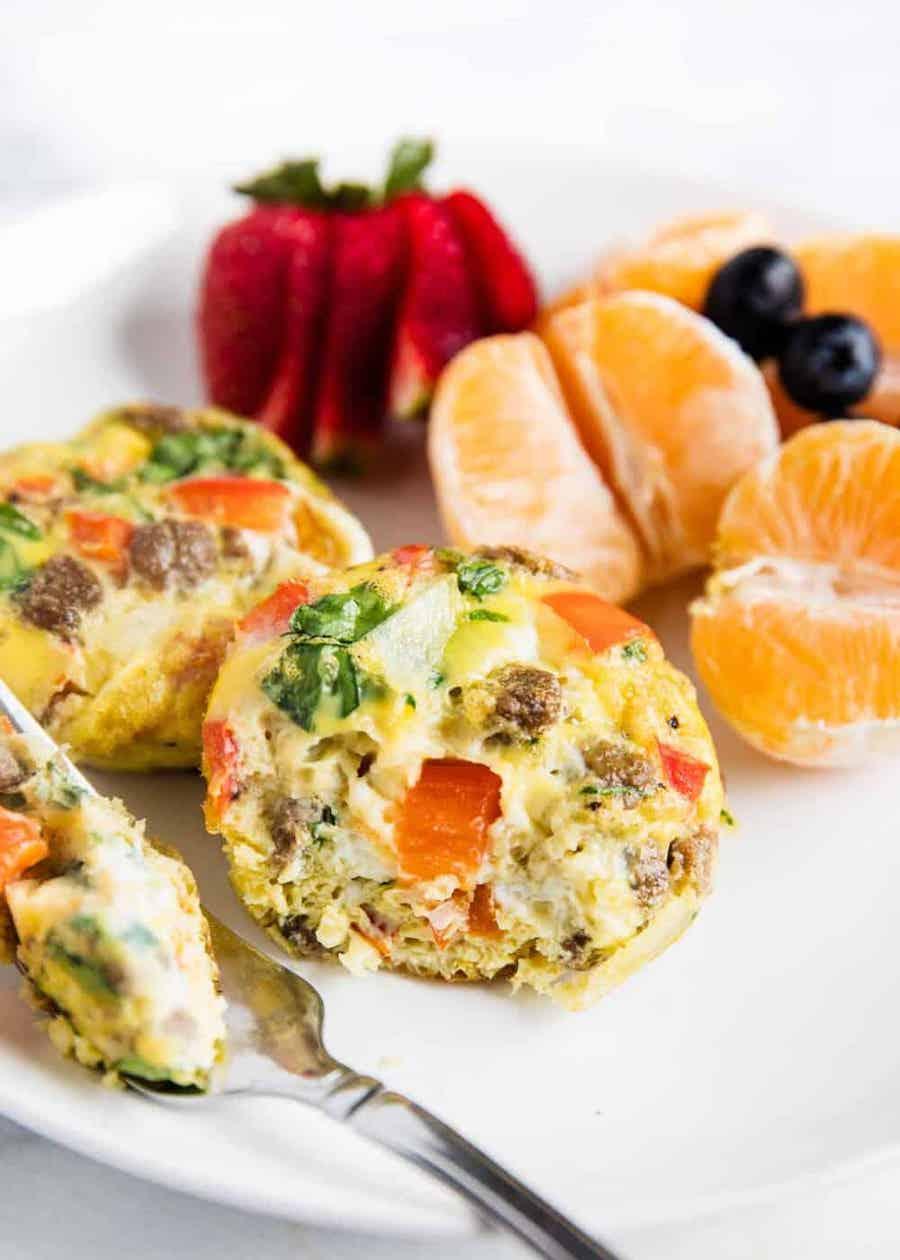 mini egg frittatas recipe