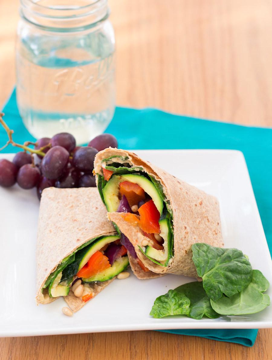 hummus veggie wrap recipe