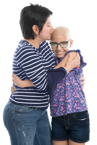 mom with child battling cancer