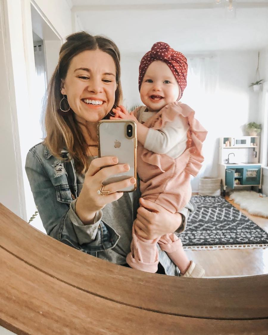 mom and smiling toddler