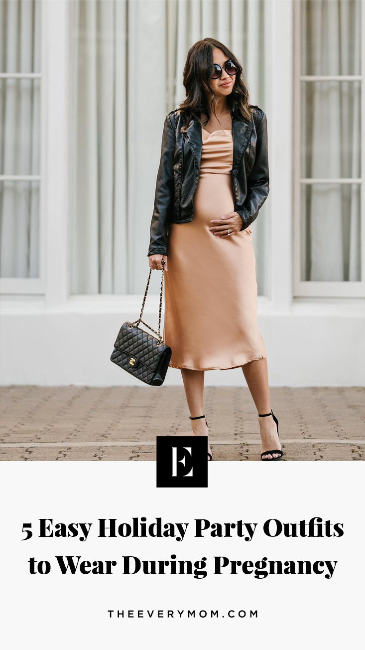 5 Cute And Comfortable Maternity Holiday Party Outfits The Everymom