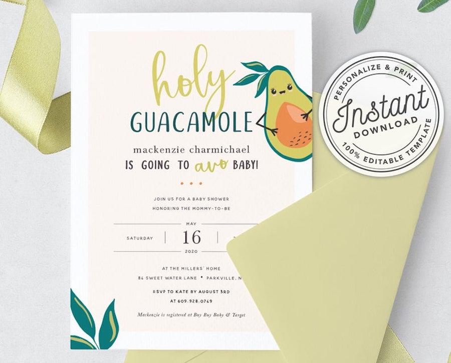 baby shower theme guacamole