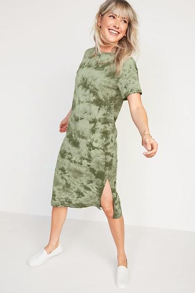 old navy tie dye mom uniform summer dress