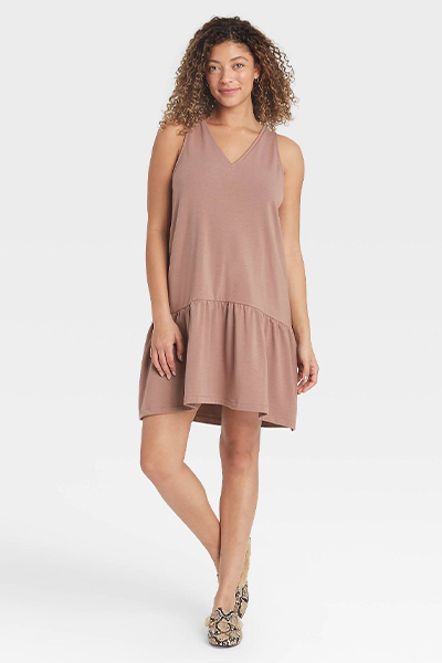 target ruffle hem mom uniform summer dress