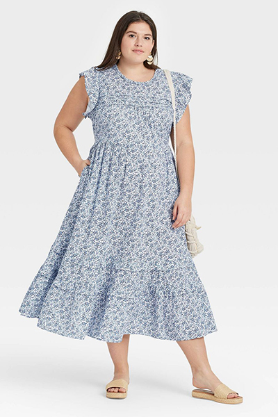 target floral mom uniform summer dress