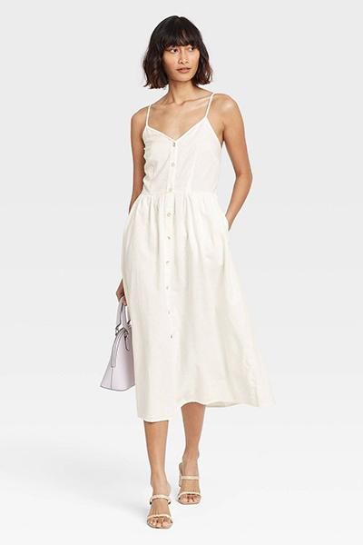 target button-down mom uniform summer dress