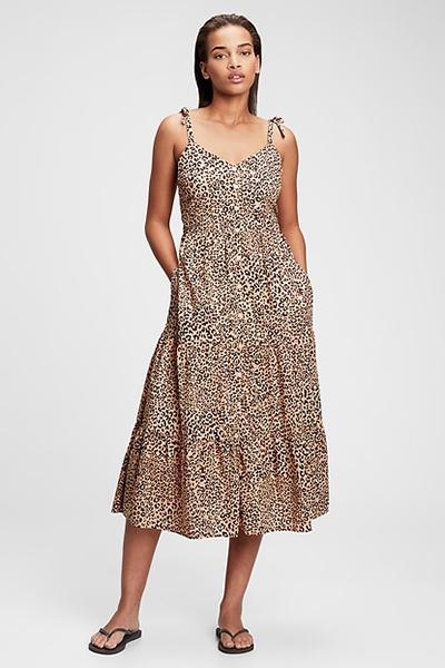 gap patterned mom uniform summer dress