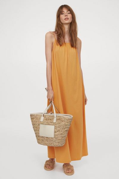 h&m maxi mom uniform summer dress