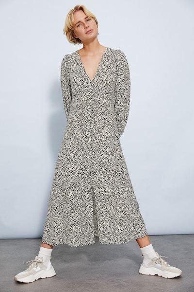 h&m puff-sleeve mom uniform summer dress