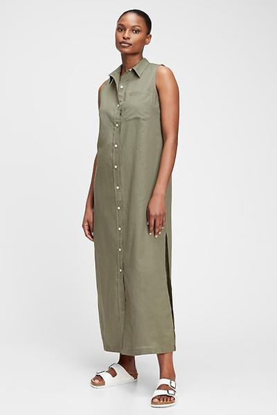 gap linen mom uniform summer dress