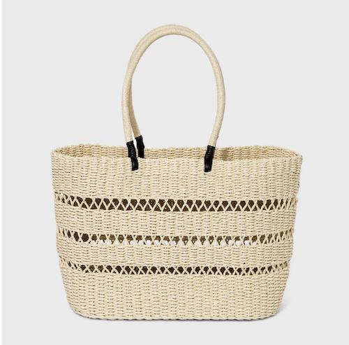 Target Straw Tote Handbag