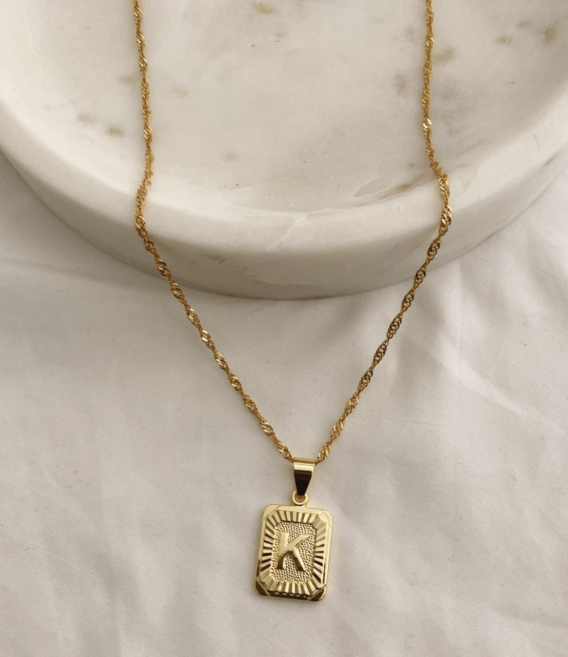 black owned business gold necklace