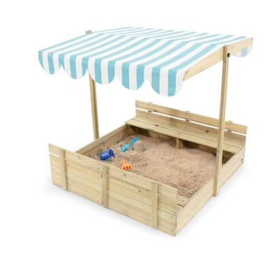 outdoor play sandbox