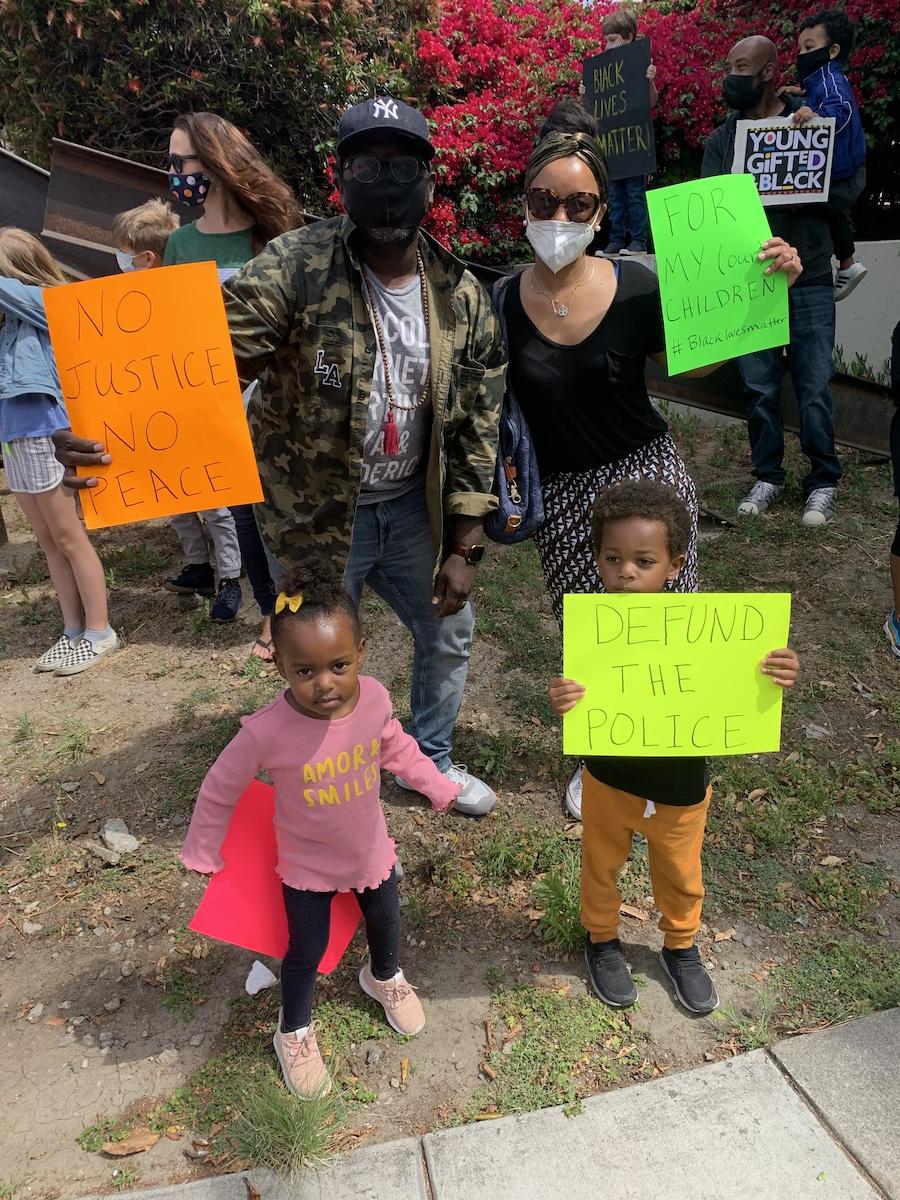 family at black lives matter protest