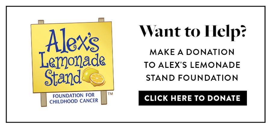 alex's lemonade stand donation