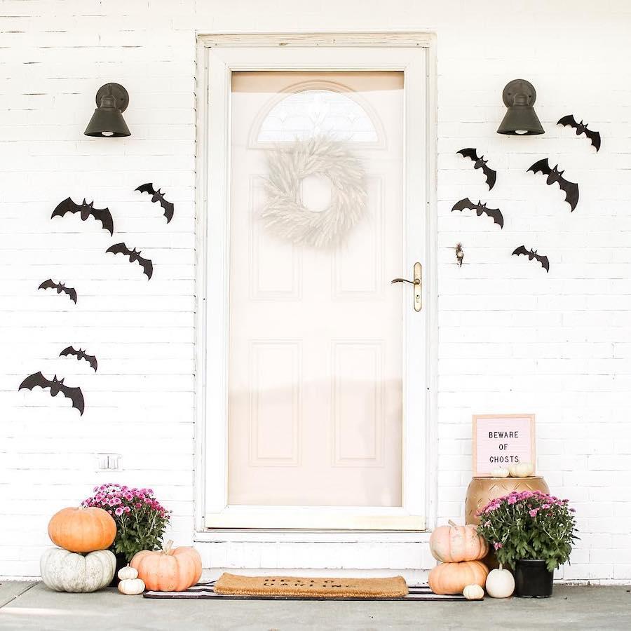 fall halloween front porch decor