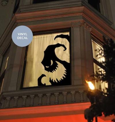 spooky window decal