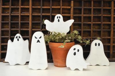 cute halloween decor ghosts