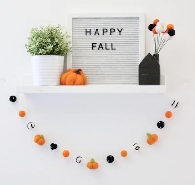 cute halloween garland decor