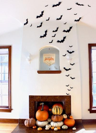 cute halloween bat decor