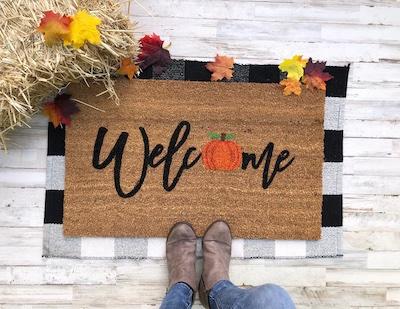 cute halloween doormat