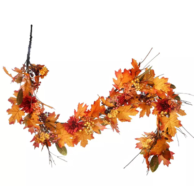 fall porch decor garland