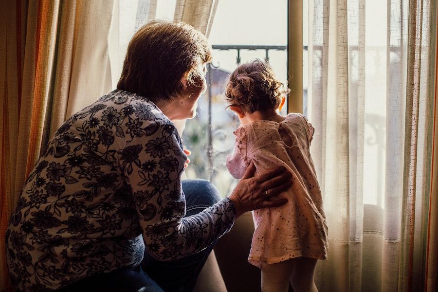 grandma with toddler