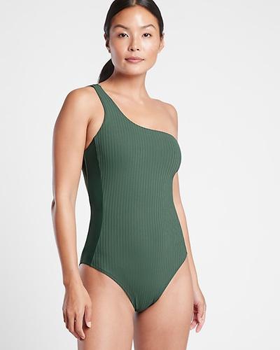 athleta one shoulder swimsuit
