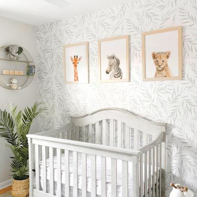 green nursery wallpaper