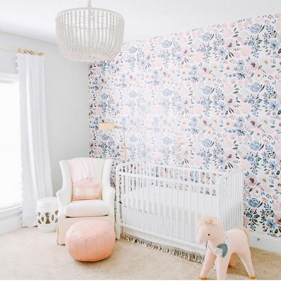 floral nursery wallpaper