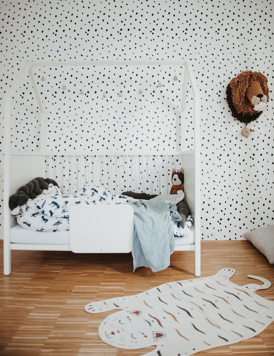 dotted nursery wallpaper