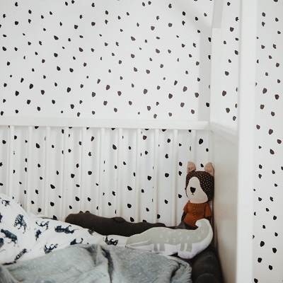 polka dot nursery wallpaper