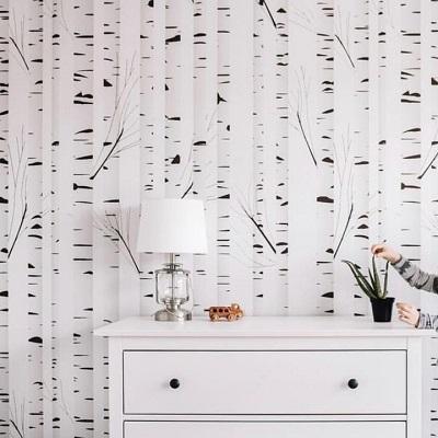 tree nursery wallpaper