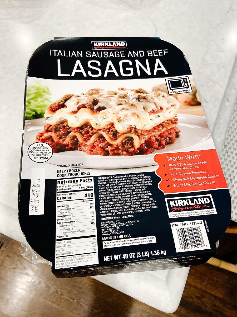 costso lasagna