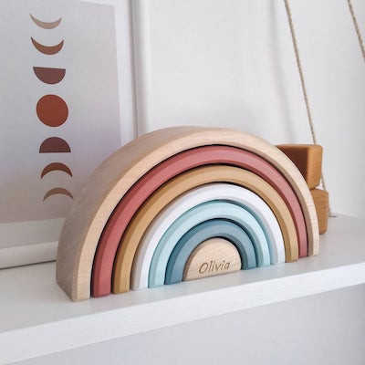 personalized rainbow stacker