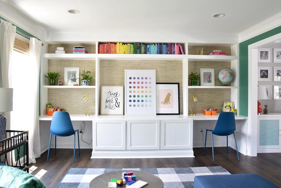 Book Wall Playroom
