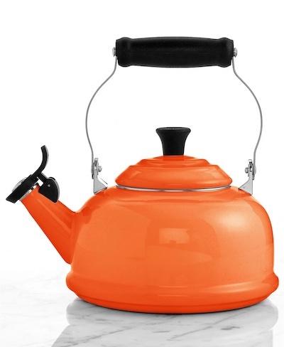 orange tea kettle