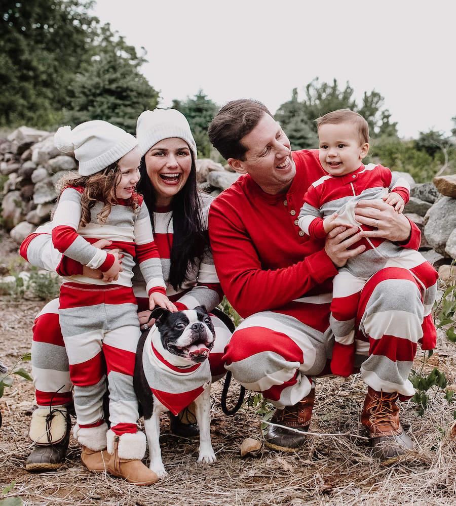 holiday family matching pajamas