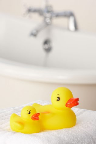 rubber ducky and bath