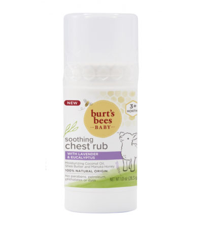 burts bees soothing chest rub